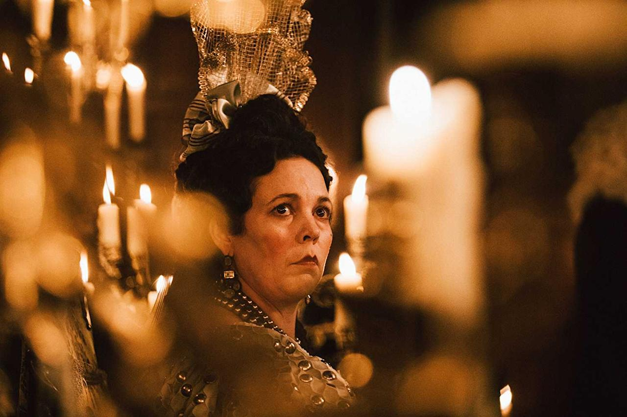 <p>As Anne, Queen of Great Britain in 'The Favourite' </p>