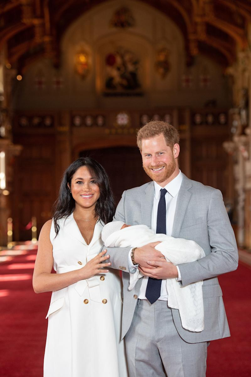 The Duke and Duchess of Sussex introducing their newborn, Archie Harrison Mountbatten-Windsor, to the world. (Photo: PA Wire/PA Images)