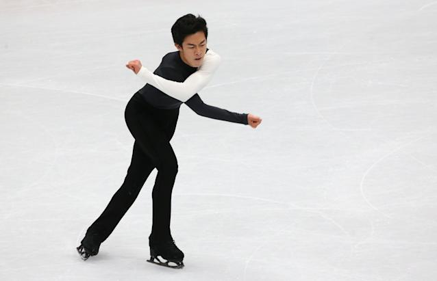 Figure Skating - World Figure Skating Championships - The Mediolanum Forum, Milan, Italy - March 22, 2018 Nathan Chen of the U.S. during the Men's Short Programme REUTERS/Alessandro Bianchi