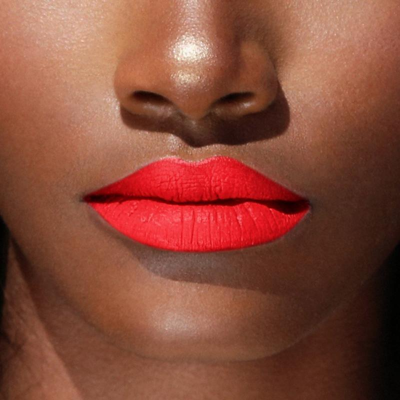 <p><span>Beauty Bakerie Cherry Flambé Matte Lip Whip</span> ($20) looks gorgeous on all skin tones - it's universally flattering, which is important for brands to evaluate when developing shades.</p>