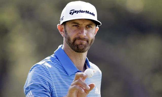 "<span class=""element-image__caption"">Dustin Johnson's form makes him a merited favourite, but no favourite has won at Augusta for 12 years.</span> <span class=""element-image__credit"">Photograph: Eric Gay/AP</span>"