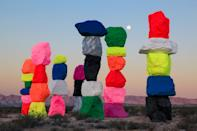 "<p><strong>What's this place all about?</strong> The large-scale public work ""Seven Magic Mountains"" can be seen by anyone arriving (or leaving) Las Vegas via I-15, 10 miles south of the Strip. The massive, 30-foot-high neon-painted limestone totems cut an incredible picture against the desert. Artist Ugo Rondinone's piece took several years to plan in this area, but all you have to do is follow the driving directions and show up. The work will be on view until 2021.</p> <p><strong>What's it like being there?</strong> As you're driving past it on I-15, either to or from Las Vegas, the work looks like neon ice cream cones rising from the desert floor—but no, it's not part of the <a href=""https://www.cntraveler.com/activities/las-vegas/neon-museum?mbid=synd_yahoo_rss"" rel=""nofollow noopener"" target=""_blank"" data-ylk=""slk:Neon Museum"" class=""link rapid-noclick-resp"">Neon Museum</a>. It's an awe-inspiring installation, for sure, but in an otherworldly, wacky way.</p> <p><strong>Is there a guide involved?</strong> There's not a guide involved; you show up and admire.</p> <p><strong>Who comes here?</strong> The most dedicated fans of the landmark these days have been Instagram influencers, but it will appeal to art appreciators of all stripes.</p> <p><strong>Did it meet expectations?</strong> Despite the fact that the structures are perfectly stable, they appear wobbly. They also alter your sense of size—it's hard not to feel small and humble when standing next to them.</p> <p><strong>So, then, what, or who, do you think it's best for?</strong> This art is easy to see, particularly since it's already on your way in or out of town. If nothing else, it will help reinforce the fact that there's a tremendous amount of barren, beautiful desert beyond the Strip.</p>"