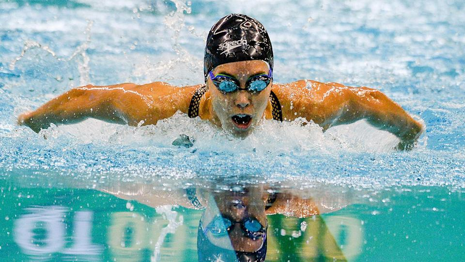 Seen here, swimmer Emma McKeon in a lead-up event for the Olympics.