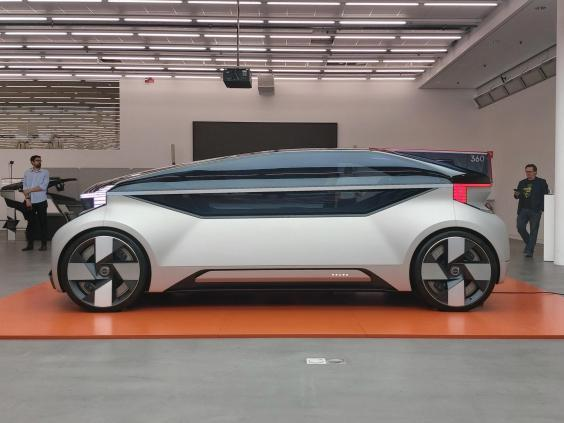The Volvo 360c is one of several self-driving concepts being developed by major auto companies (The Independent)