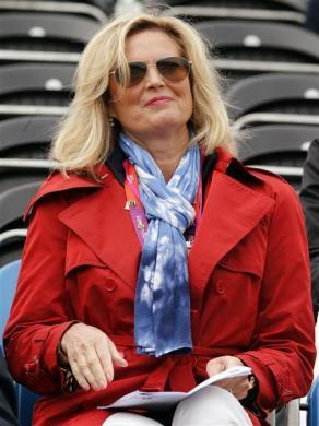 Ann Romney attends the equestrian dressage individual grand prix special at the London 2012 Olympic Games in Greenwich Park August 7, 2012.