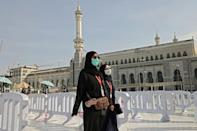 Pilgrims arrive to atend the hajj season in the holy Saudi city of Meccca on July 17