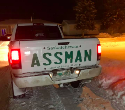 Canadian man Dave Assman's solution after licence plate rejected