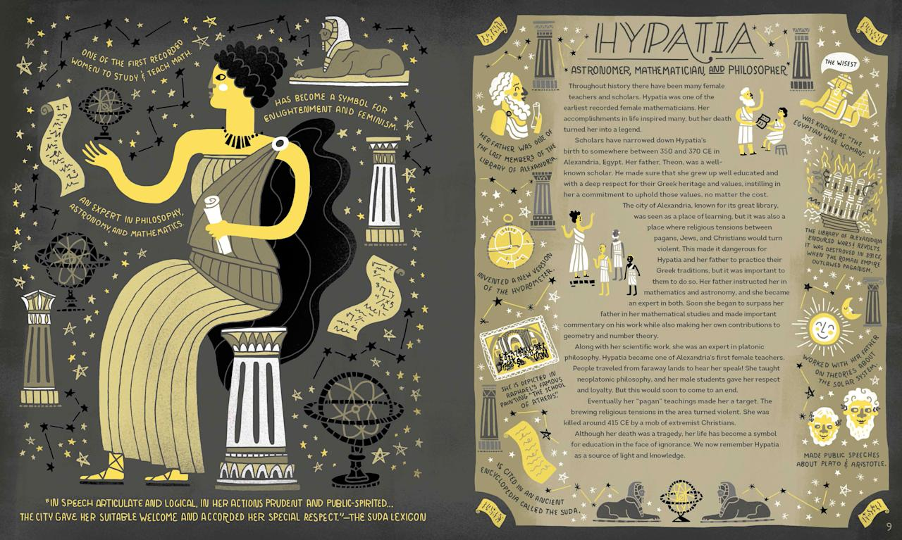 the life and contribution of hypatia in mathematics and philosophy Hypatia of alexandria was a greek philosopher  and learned philosophy, mathematics and theology her women in mathematics history thoughtco, nov 27.