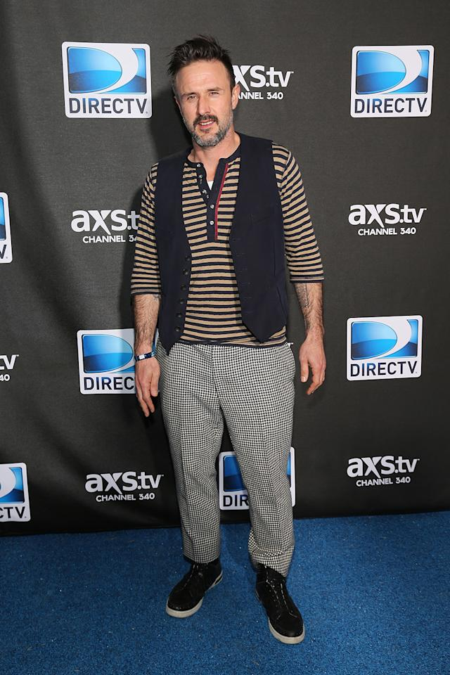 David Arquette attends DIRECTV Super Saturday Night Featuring Special Guest Justin Timberlake & Co-Hosted By Mark Cuban's AXS TV on February 2, 2013 in New Orleans, Louisiana.  (Photo by Neilson Barnard/Getty Images for DirecTV)