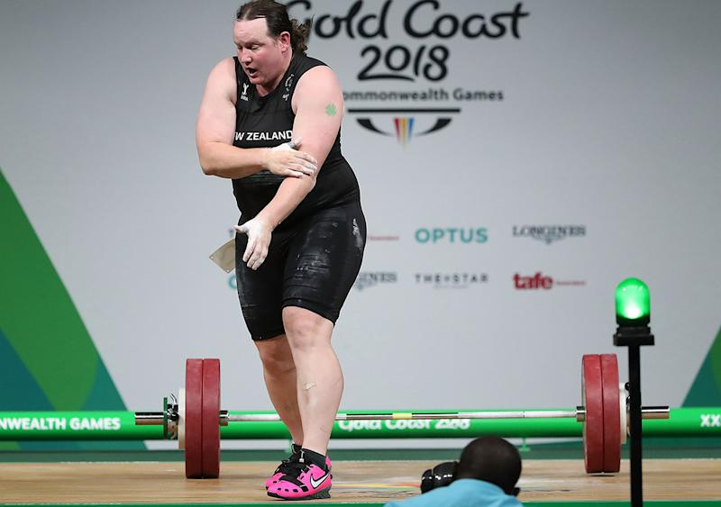 Laurel Hubbard, pictured here at the Commonwealth Games in 2018.