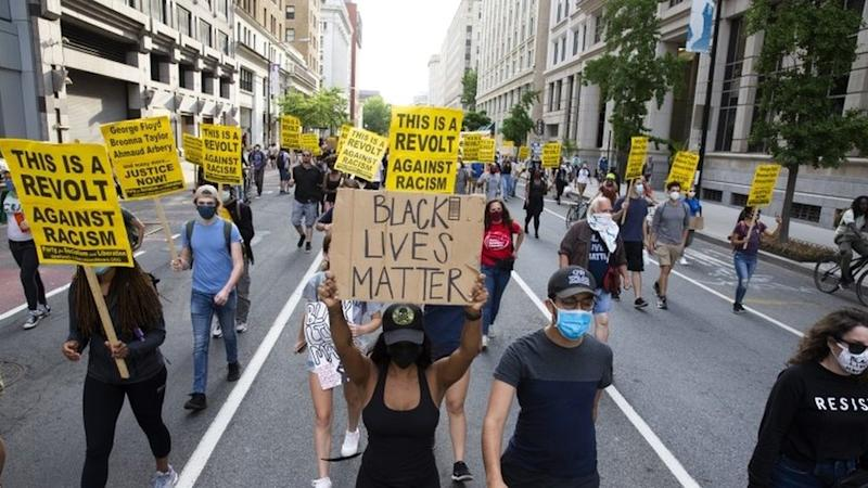 Marcha de Black Lives Matter en Washington D.C. este lunes.