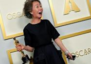 "South Korea's Youn Yuh-Jung won the best supporting actress Oscar for ""Minari"""