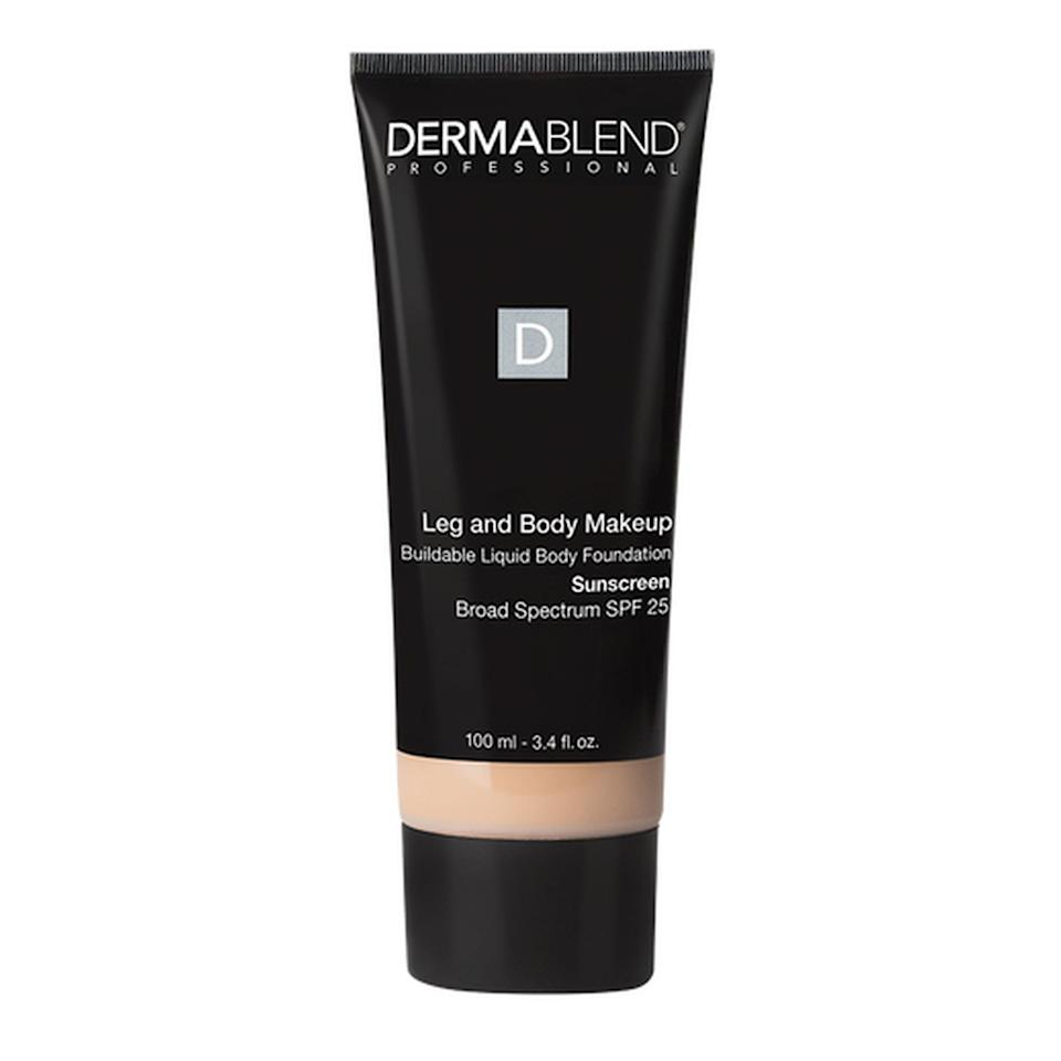 """<p>Dermablend is best known for its impressive selection of foundation and concealers, some of which you can use on your body to conceal things like bruises, or even tattoos. The dermatologist-recommended brand just announced its cruelty-free certification from PETA, and is now currently in the process of manufacturing 100 percent vegan products, which are set to hit shelves later this year. In addition to boasting its new animal-friendly certification, <a href=""""https://www.allure.com/review/dermablend-leg-body-cover-2014?mbid=synd_yahoo_rss"""">Dermablend's Leg and Body Makeup</a> is also fragrance-free, highly pigmented, <em>and</em> contains SPF.</p> <p><strong>$34</strong> (<a href=""""https://shop-links.co/1681828546211997129"""" rel=""""nofollow"""">Shop Now</a>)</p>"""