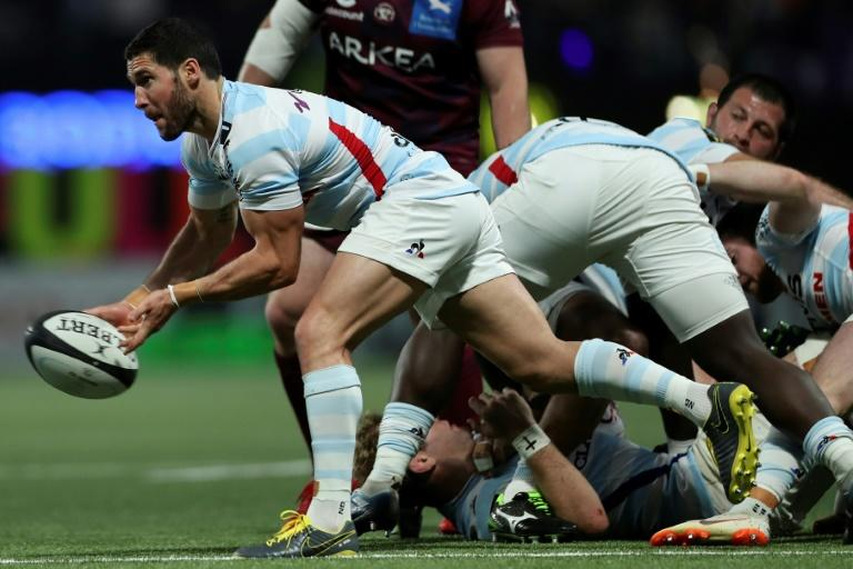 France scrum-half Maxime Machenaud scored 15 points as Racing92 thumped Brodeaux-Begles