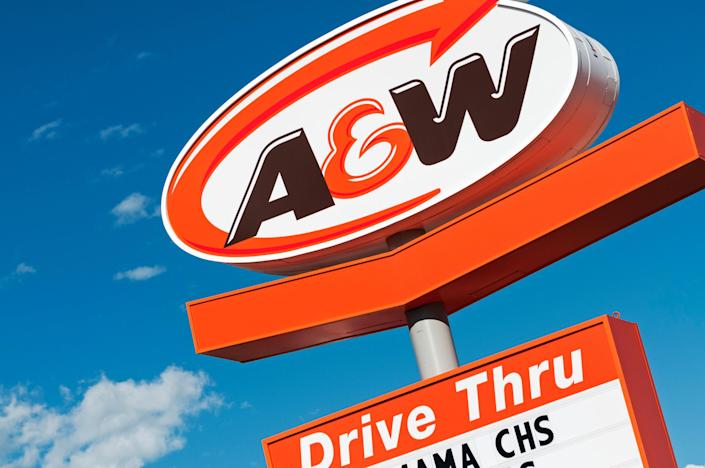 The A&W sign