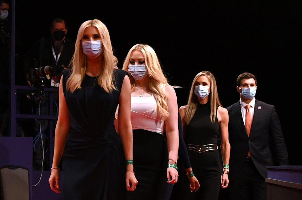 Trump Family Wears Masks to Final Debate After Criticism for Quickly Taking Them Off at Last One