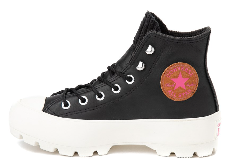 Converse Chuck Taylor All Star Hi Lugged Winter Sneaker in Black/Mod Pink