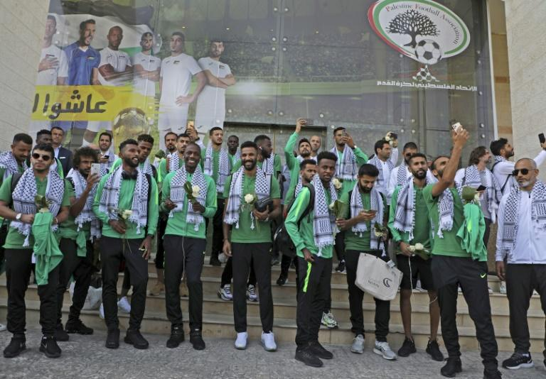 Saudi Arabia's football team will play Palestine in the West Bank for the first time