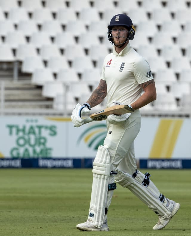 Stokes in the wake of his dismissal (Themba Hadebe/AP)