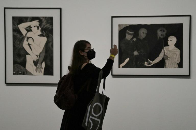 Cuban artist Belkis Ayon exhibited at the Sao Paulo Bienal (AFP/NELSON ALMEIDA)