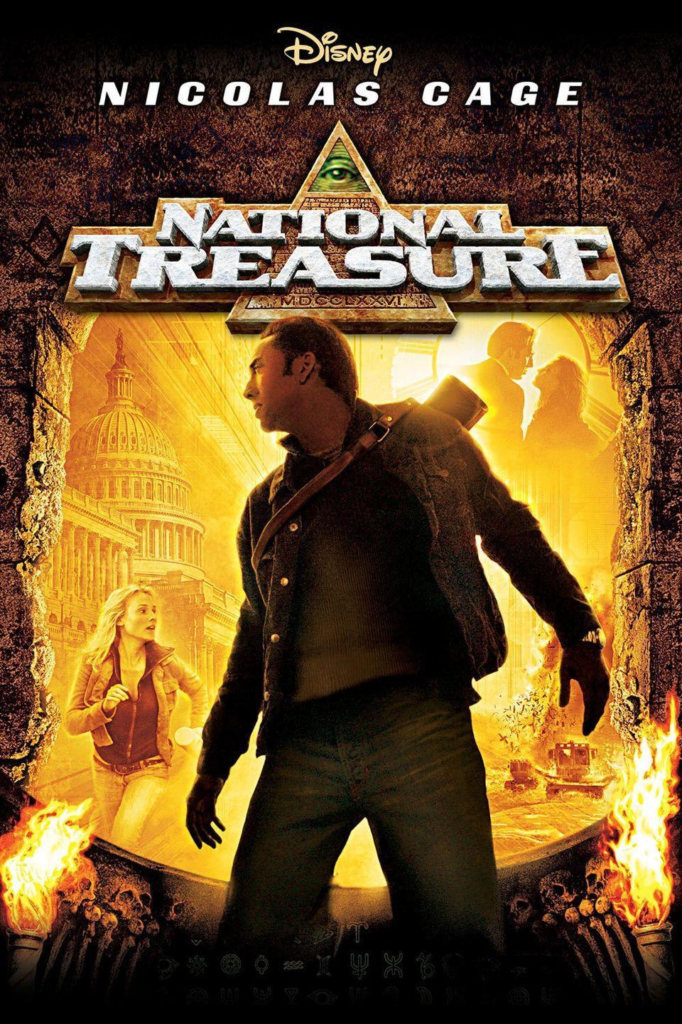"""<p>This historical adventure stars Nicolas Cage as a historian named Ben who has to steal the Declaration of Independence in order to find a hidden treasure. Kids and adults alike are sure to enjoy this captivating movie. </p><p><a class=""""link rapid-noclick-resp"""" href=""""https://go.redirectingat.com?id=74968X1596630&url=https%3A%2F%2Fwww.disneyplus.com%2Fmovies%2Fnational-treasure%2F4OSB77mZE37z&sref=https%3A%2F%2Fwww.womansday.com%2Flife%2Fentertainment%2Fg36156094%2F4th-of-july-movies%2F"""" rel=""""nofollow noopener"""" target=""""_blank"""" data-ylk=""""slk:STREAM NOW"""">STREAM NOW</a></p>"""
