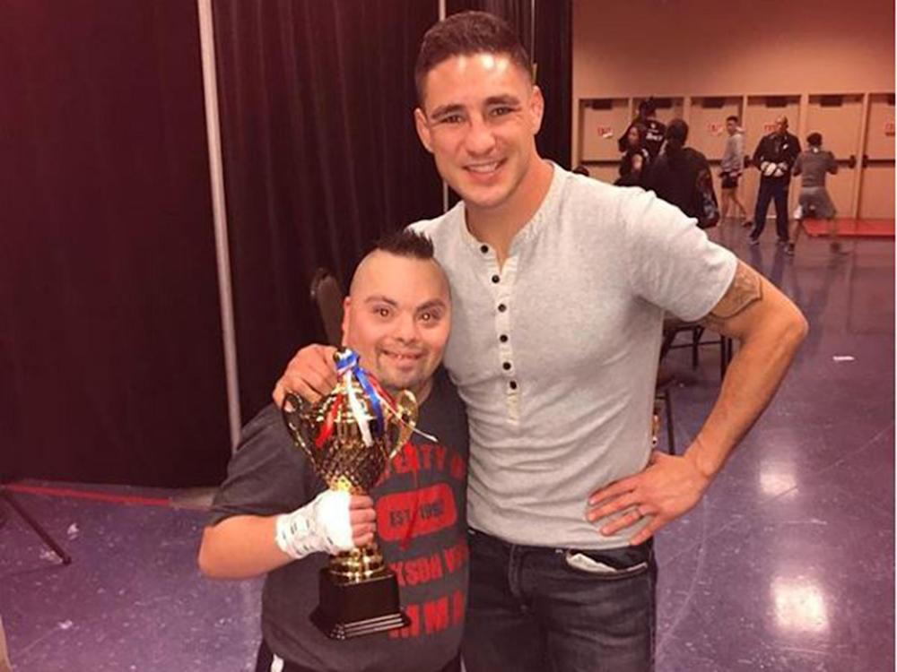 Diego Sanchez fought MMA fan Isaac Marquez in his first bout: Instagram/@diegonightmaresanchezufc