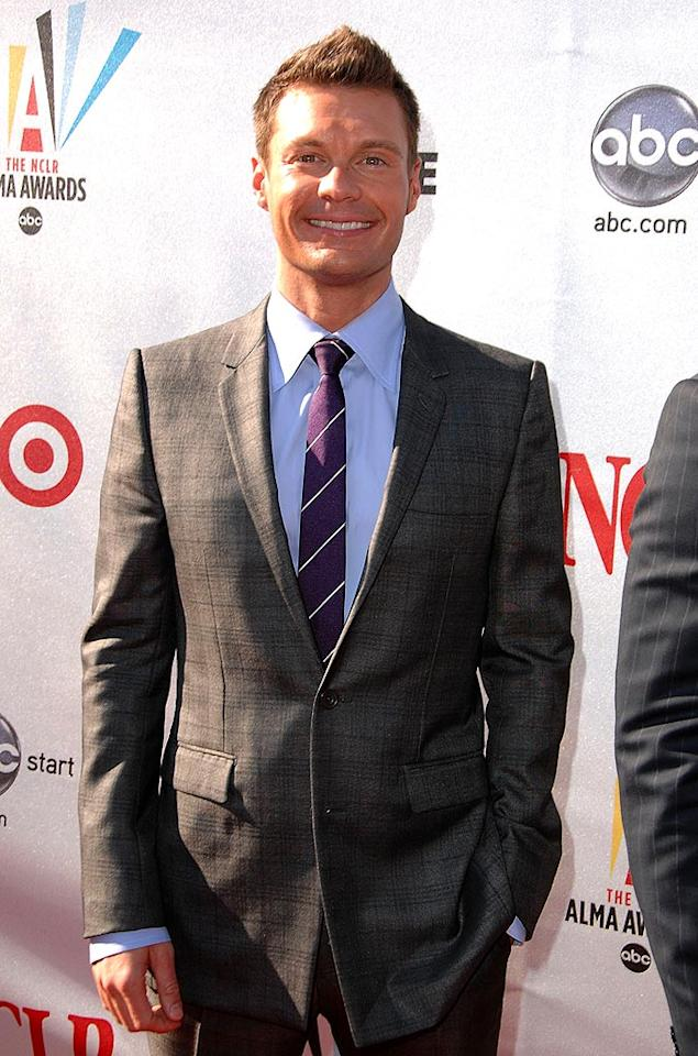 "Is it just us or is Ryan Seacrest looking a tad tanorexic these days? Steve Granitz/<a href=""http://www.wireimage.com"" target=""new"">WireImage.com</a> - August 17, 2008"