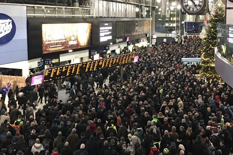 The concourse was filled with commuters trying to get home. (Ruairi McBride)
