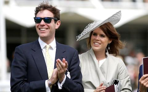 Princess Eugenie and Jack Brooksbank attend the Qatar Goodwood Festival at Goodwood Racecourse on July 30, 2015 in Chichester - Credit:  Tristan Fewings/ Getty Images Europe
