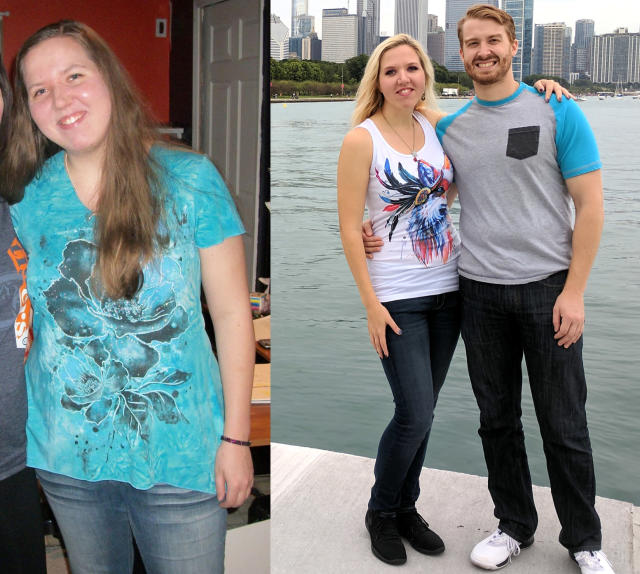 Heather Wright's crush turned into a relationship as she got on top of her health. (Photos: courtesy of Heather Wright)