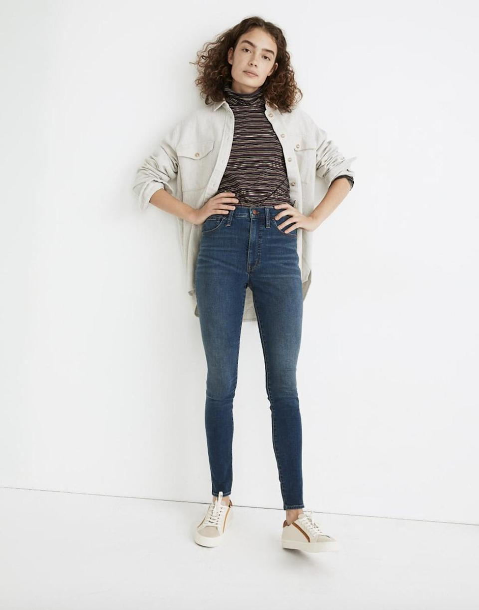 """<p>Customers love these popular <span>Madewell 10"""" High-Rise Roadtripper Jeans</span> ($75). They are cool and comfortable, so you can't go wrong.</p>"""