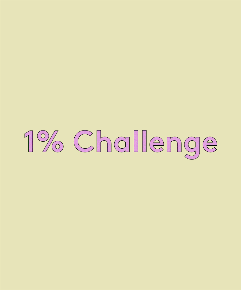 <h2>1% Challenge</h2><br>A far smaller ask, the 1% Challenge suggests you work out 1% of either your fortnightly or monthly income and set up a direct debit to regularly set that amount aside. It won't amount to much at first but will feel like a much less significant dent in your income – and over time it'll add up to a nice little savings pot which you can use for birthdays, at Christmas, on holidays, or just to put towards a nice treat for yourself.