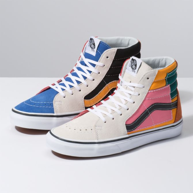 a801019dc091 The Vans Patchwork Pack collection is a  70s-inspired colorblock dream