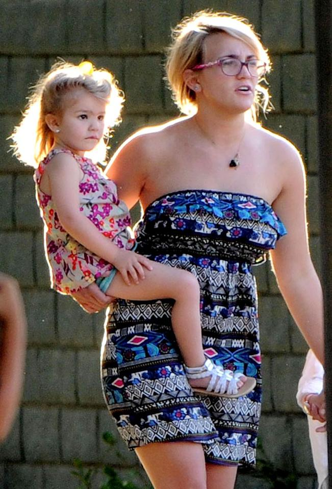 """Former """"Zoey 101"""" star Jamie Lynn Spears also surprised everyone when she announced her pregnancy in 2007 at the age of 16. Unfortunately, her relationship with baby daddy Casey Aldridge did not last. Her better half these days is her sweet 3-year-old daughter Maddie.  Splash News - May 3, 2011"""