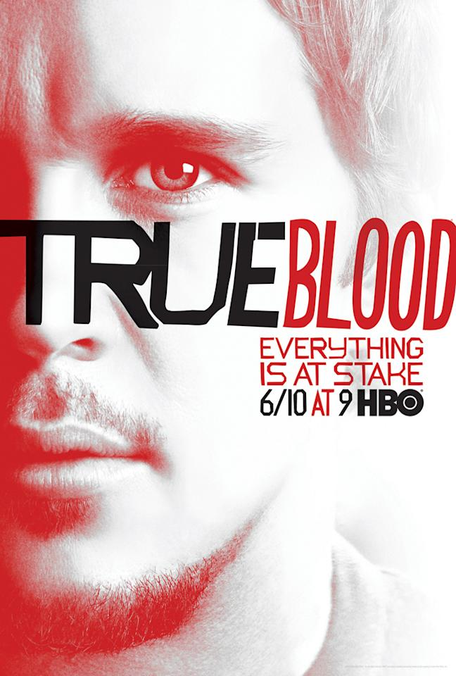 """True Blood"" Season 5 poster featuring Jason Stackhouse (Ryan Kwanten)"