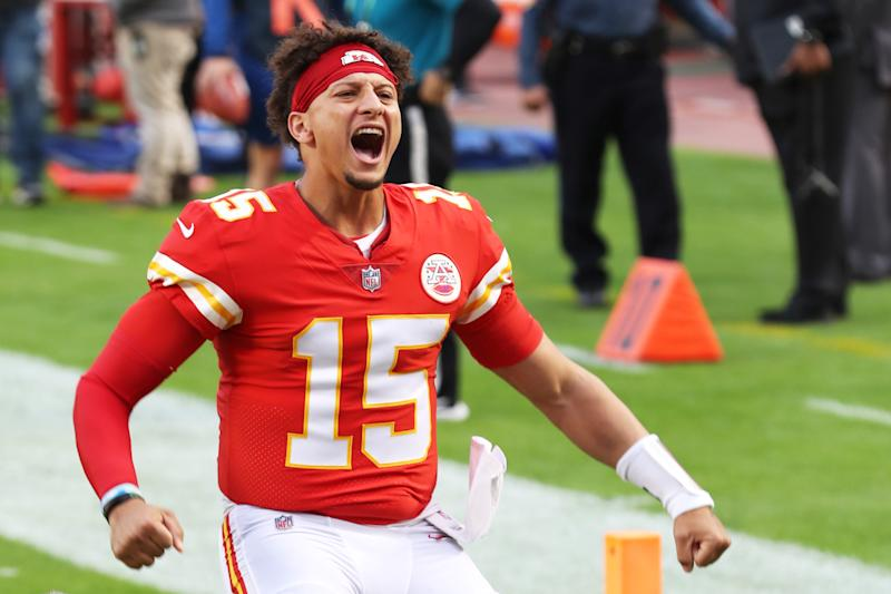 Patrick Mahomes remains a draw even in a ratings-challenged season. (Photo by Jamie Squire/Getty Images)
