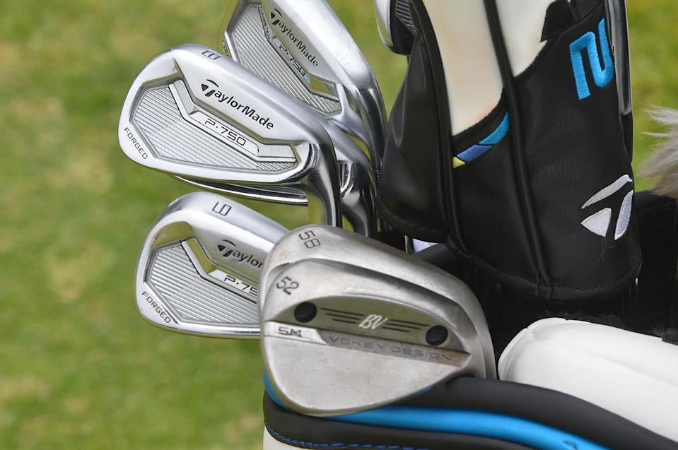 Sergio Garcia's irons at the 2021 U.S. Open.