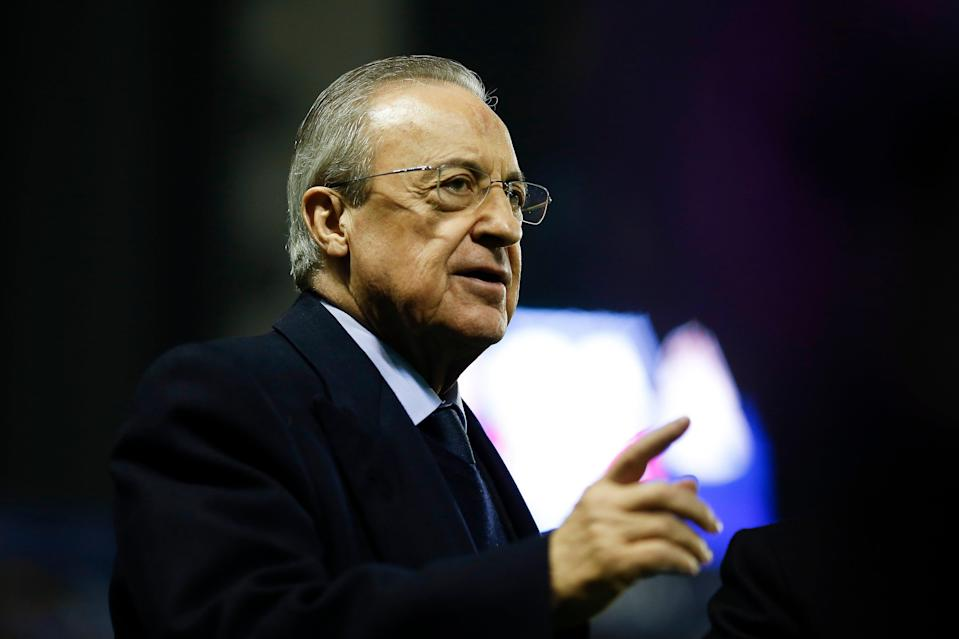 """<p>Real Madrid president Florentino Perez says he has tried to """"save football"""" with the Super League proposals </p> (Getty Images)"""