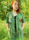 """<p>Christy Ludwick's cool take on Poison Ivy features a painted green jacket (the back says """"Leaf Me Alone""""). It's a perfect comfy look for a cooler Halloween night. The green lipstick is key!</p><p><strong>See more at <a href=""""https://www.instagram.com/captainironhawk/"""" rel=""""nofollow noopener"""" target=""""_blank"""" data-ylk=""""slk:@captainironhawk"""" class=""""link rapid-noclick-resp"""">@captainironhawk</a>.</strong></p><p><strong><a class=""""link rapid-noclick-resp"""" href=""""https://www.amazon.com/Maybelline-New-York-Sensational-Serpentine/dp/B06XDMWB8H/ref=sr_1_3?tag=syn-yahoo-20&ascsubtag=%5Bartid%7C10050.g.29402429%5Bsrc%7Cyahoo-us"""" rel=""""nofollow noopener"""" target=""""_blank"""" data-ylk=""""slk:Shop Green Lipstick"""">Shop Green Lipstick</a><br></strong></p>"""