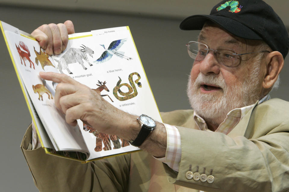 Illustrator Eric Carle reads from