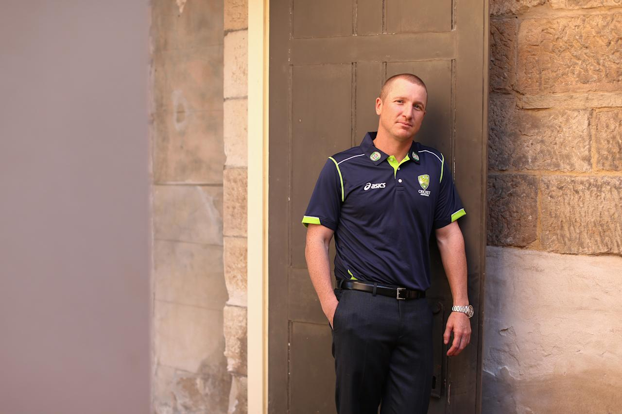 SYDNEY, AUSTRALIA - APRIL 24:  Brad Haddin of the Australian cricket team poses during the 2013 Australian Ashes squad announcement at The Mint on April 24, 2013 in Sydney, Australia.  (Photo by Cameron Spencer/Getty Images)