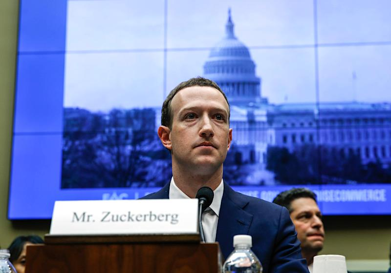 WASHINGTON, USA - APRIL 11: Facebook co-founder, Chairman and CEO Mark Zuckerberg testifies before the House Energy and Commerce Committee in the Rayburn House Office Building on Capitol Hill April 11, 2018 in Washington, DC. This is the second day of testimony before Congress by Zuckerberg, 33, after it was reported that 87 million Facebook users had their personal information harvested by Cambridge Analytica, a British political consulting firm linked to the Trump campaign. (Photo by Yasin Ozturk/Anadolu Agency/Getty Images)