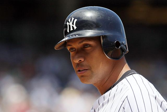 Alex Rodriguez with the New York Yankees. (Photo by Jim McIsaac/Getty Images)