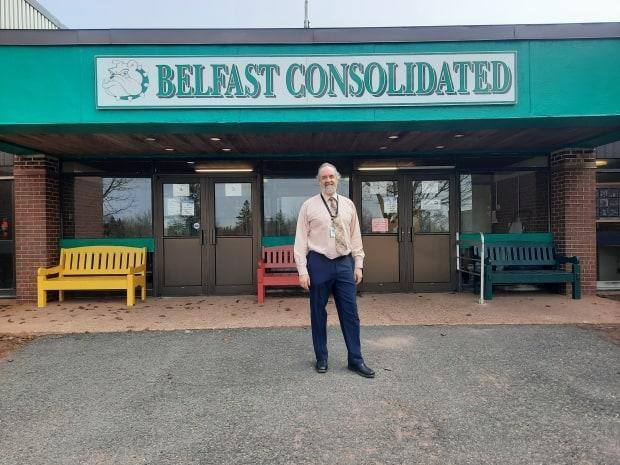 John Munro, principal at Belfast Consolidated School, says staff have been excited to see enrolment grow. (Submitted by John Munro - image credit)