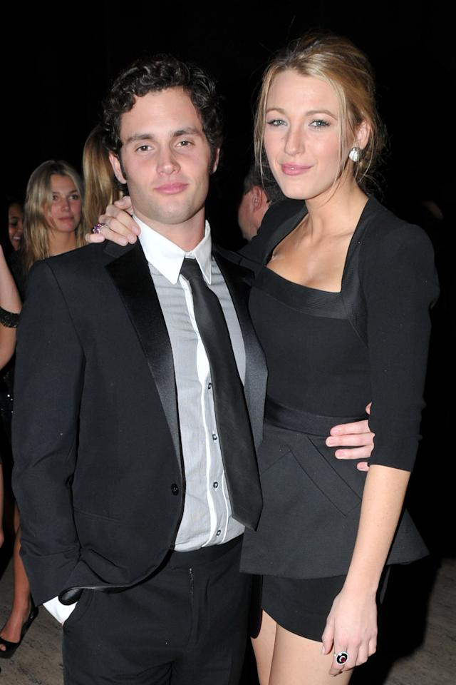 """The <i>Gossip Girl </i>stars' onscreen relationship mirrored their real-life one when they started dating during the first few seasons of the show. The former couple, who played Serena van der Woodsen and Dan Humphrey, first became romantically linked back in 2007, and although they <a href=""""https://people.com/celebrity/blake-lively-and-penn-badgley-just-friends/"""">denied their relationship</a> at first, the two went public a year later before <a href=""""https://people.com/celebrity/blake-lively-and-penn-badgley-break-up/"""">breaking up</a>in October 2010.  A 2017 <a href=""""https://www.vanityfair.com/hollywood/2017/08/gossip-girl-ten-year-anniversary""""><i>Vanity Fair</i></a> feature revealed that the actors hid their split from the cast and crew while filming the show. """"The shocking thing was, I found out on the set of the Season 2 finale that Blake and Penn had broken up months before,"""" <i>Gossip Girl</i>'s executive producer and writer Joshua Safran told the outlet. """"They kept the breakup hidden from the crew, which you could <i>never</i> do now. I don't even know how they did it. They kept it from everybody which is a testament to how good they are as actors. Because they did not want their personal drama to relate to the show.""""  When asked about <a href=""""https://people.com/celebrity/celeb-exes-who-worked-together-after-breaking-up/?slide=2193103#2193103"""">how they worked together after their split</a>, Badgley said, """"We were constantly professional, to be honest, and we should both pat ourselves on the back because anything is complicated in that way … and we handled it."""""""