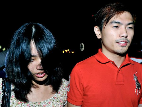 File picture of Vivian Lee May Ling (left) with her then boyfriend Alvin Tan Jye Yee. — Bernama pic