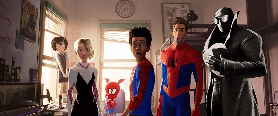 "<p>In this critically acclaimed, Oscar-nominated animated film, a Brooklyn teen named Miles is bitten by a radioactive spider, in-turn meeting his five counterparts from alternate dimensions. </p><p><a class=""link rapid-noclick-resp"" href=""https://www.netflix.com/title/81002747"" rel=""nofollow noopener"" target=""_blank"" data-ylk=""slk:Watch It Now"">Watch It Now</a></p>"