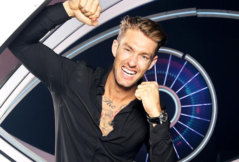 Model Chad Hurst took out the top spot in the Big Brother 2020 grand finale. Photo: Channel 7/Nigel Wright (supplied).