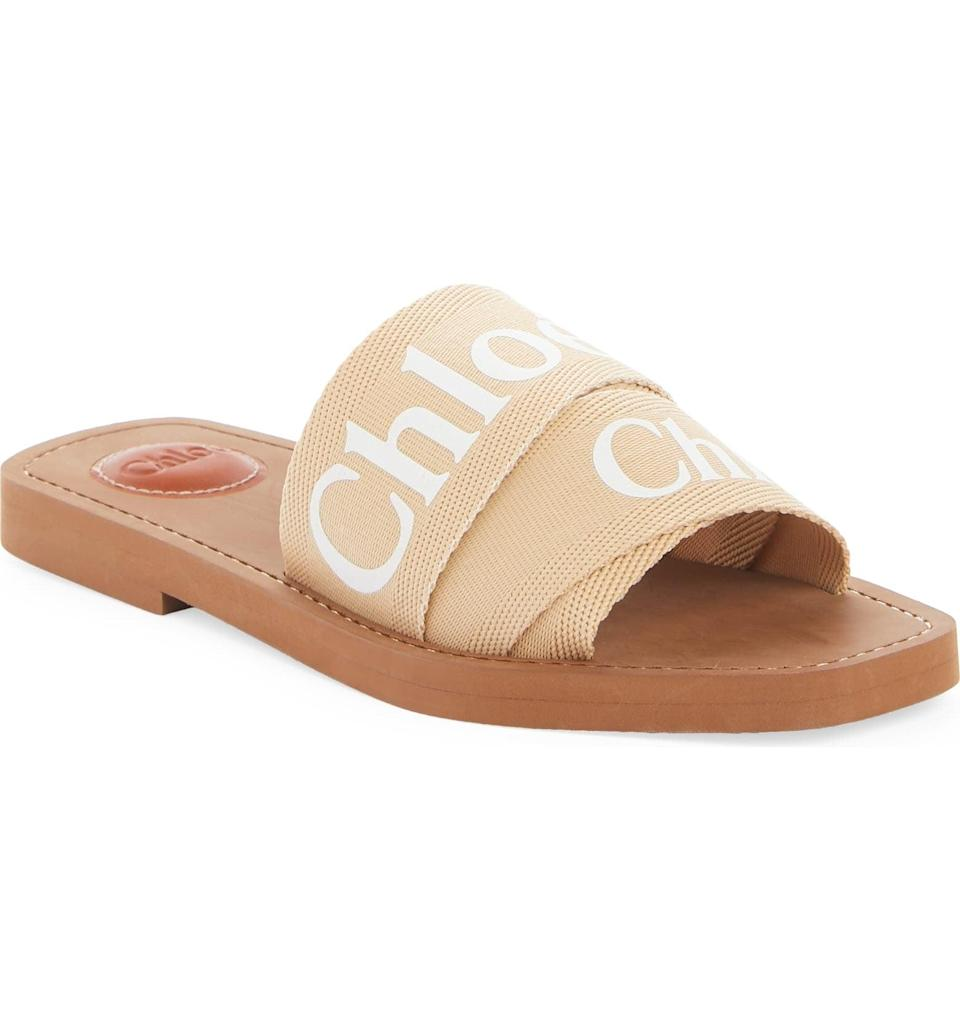 <p>This <span>Chloé Logo Slide Sandal</span> ($370) will look great with a slip dress, but it will also elevate any ensemble.</p>