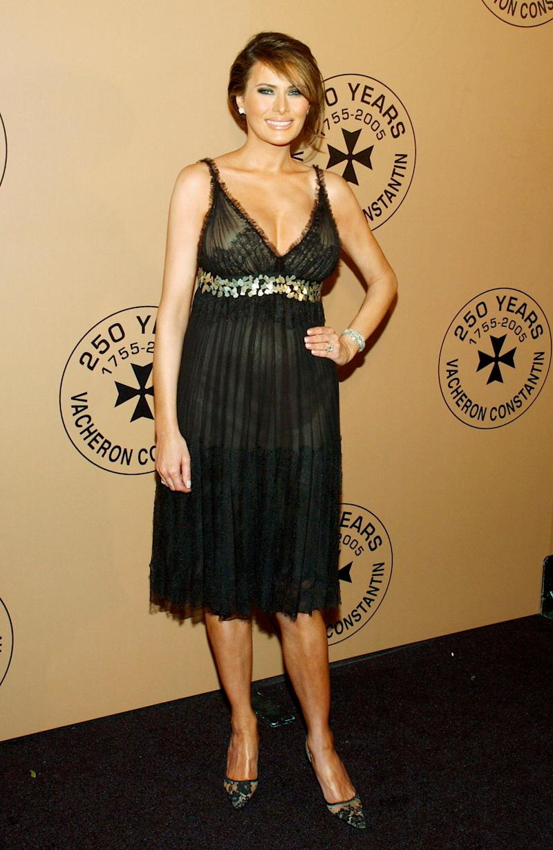 NEW YORK - OCTOBER 24: Model Melania Trump attends the 250th Anniversary Celebration of luxury watch brand Vacheron Constantin on October 24, 2005 in New York City. Melania Trump was the hostess of the evening at the New York Public Library. (Photo by Andrew H. Walker/Getty Images)